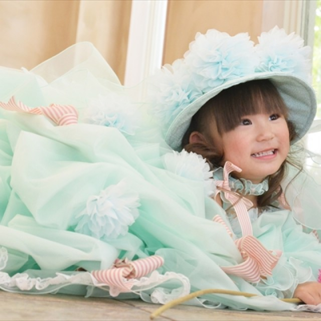 七五三3歳 フワフワのドレスに包まれてパチリ♪