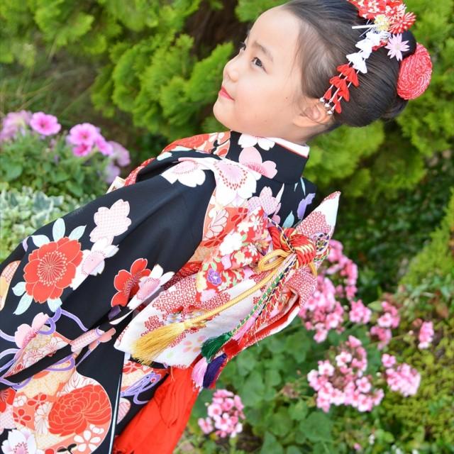 七五三写真撮影では、日本髪や着物のお持ち込みもOK!