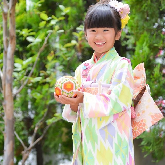 七五三7歳 自然な笑顔で記念写真♡七五三撮影は熊谷の写真館絹屋へ♪
