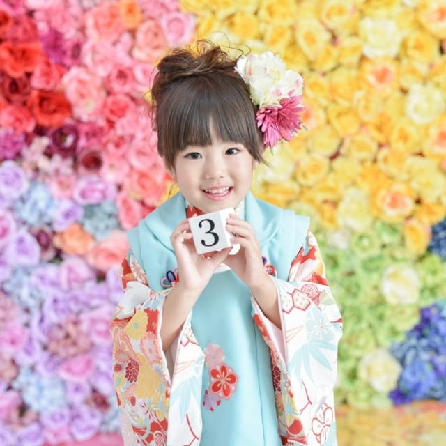 七五三3歳 お参りの着物レンタルもOK 写真館はお得な絹屋熊谷店へ
