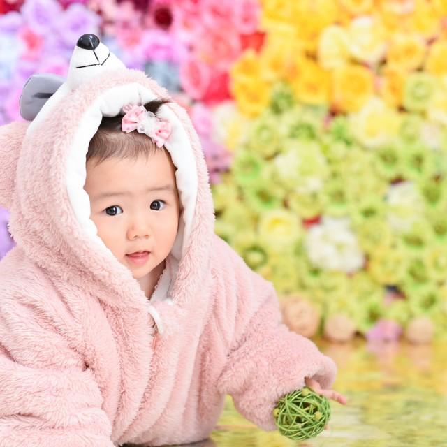 1歳バースデー 衣裳のお持ち込みやパパママとのペアルックもOK!