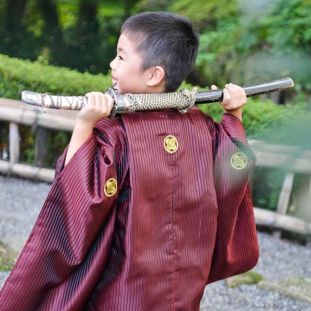 七五三5歳 熊谷の日本庭園でローケーション撮影♪公園に遊びに行く感覚だからお子様もリラックスして写真撮影が楽しめます♪
