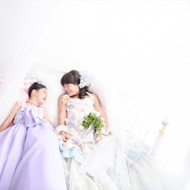 七五三姉妹 洋装ドレススタジオ 自然光に包まれて♪