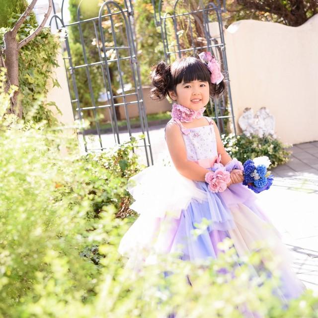 七五三3歳洋装 かわいいドレスでロケーション撮影♪
