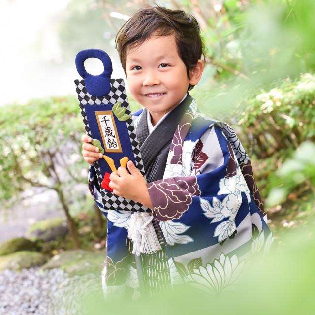 七五三5歳男子 自然な笑顔が引き出しやすいロケーション撮影♪