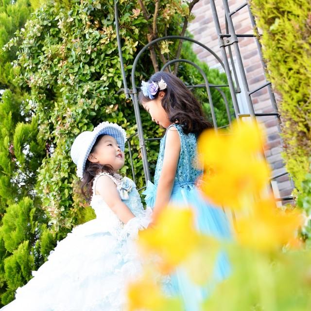 七五三7歳ロケーション撮影 姉妹ドレスで自然な写真を
