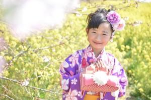 桜&七五三 7歳アップ