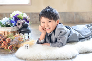 七五三 5歳 タキシード フォトスタジオ